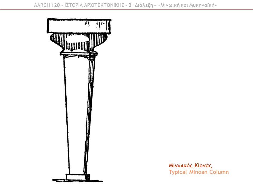 Μινωικός Κίονας Typical Minoan Column