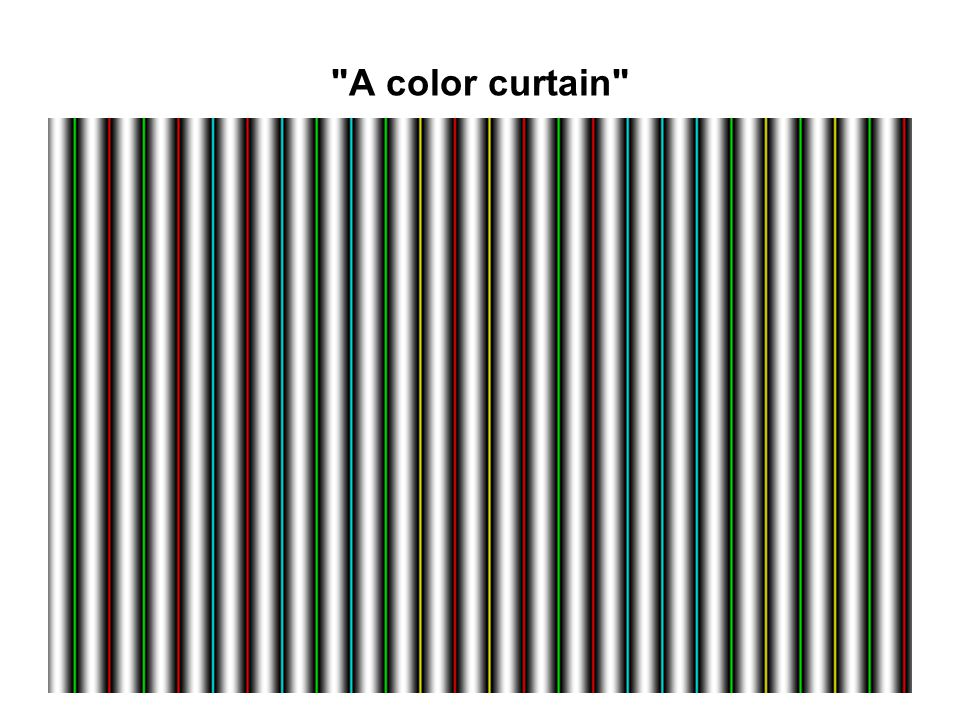 A color curtain
