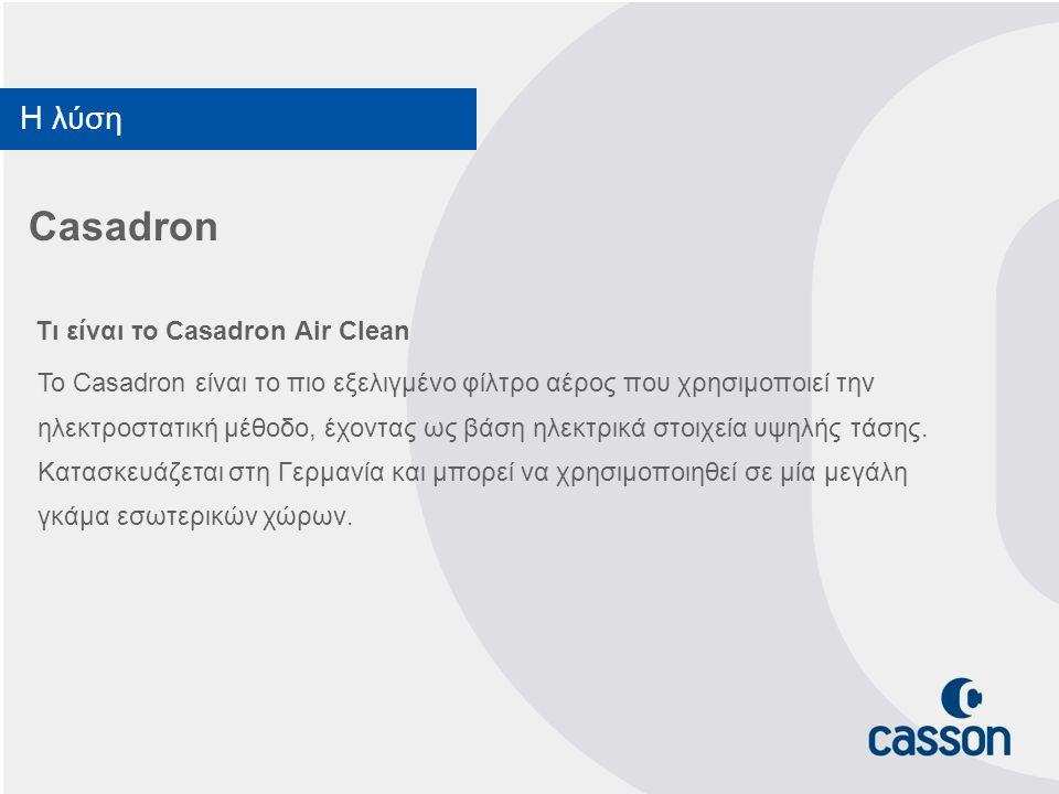Casadron Η λύση Τι είναι το Casadron Air Clean