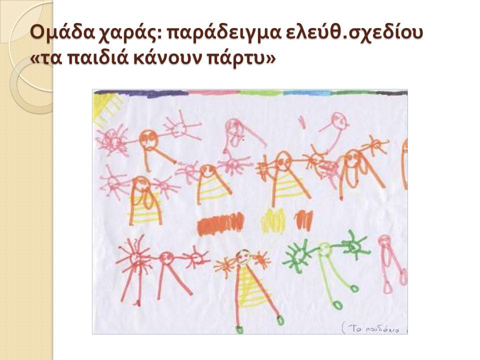 Ομάδα χαράς: παράδειγμα ελεύθ.σχεδίου «τα παιδιά κάνουν πάρτυ»