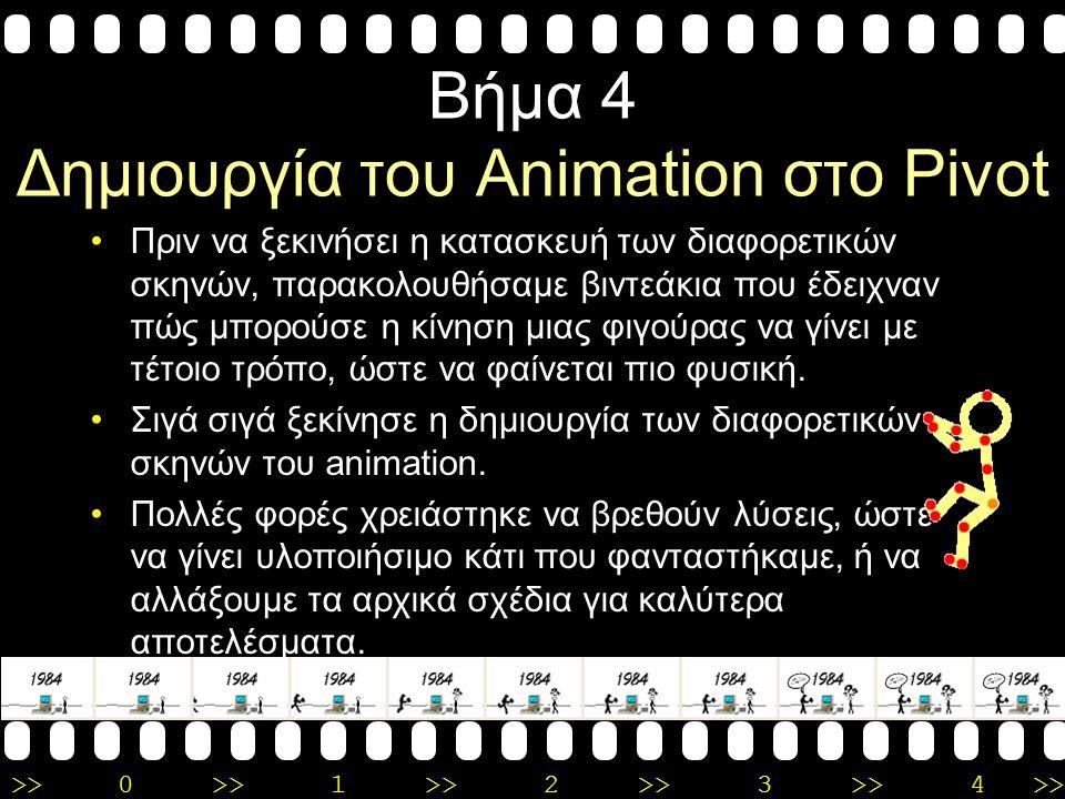 Βήμα 4 Δημιουργία του Animation στο Pivot