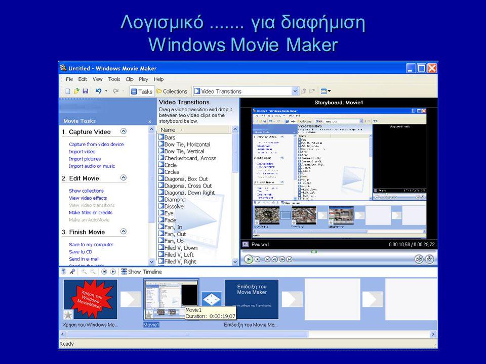 Λογισμικό ....... για διαφήμιση Windows Movie Maker