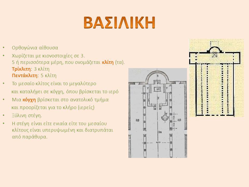 ΒΑΣΙΛΙΚΗ Ορθογώνια αίθουσα