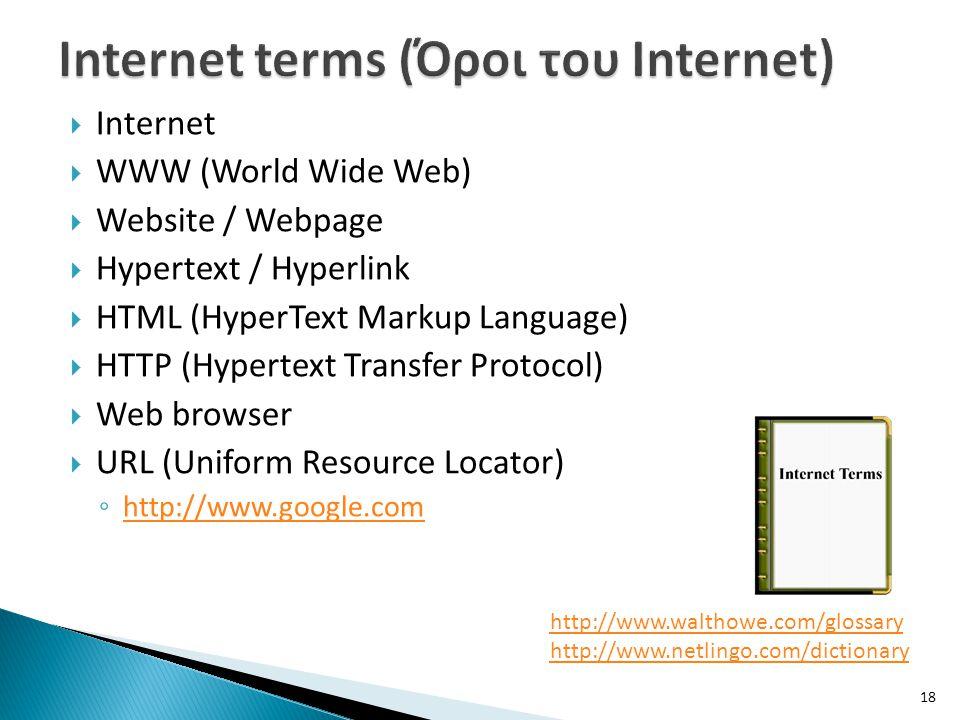 Internet terms (Όροι του Internet)