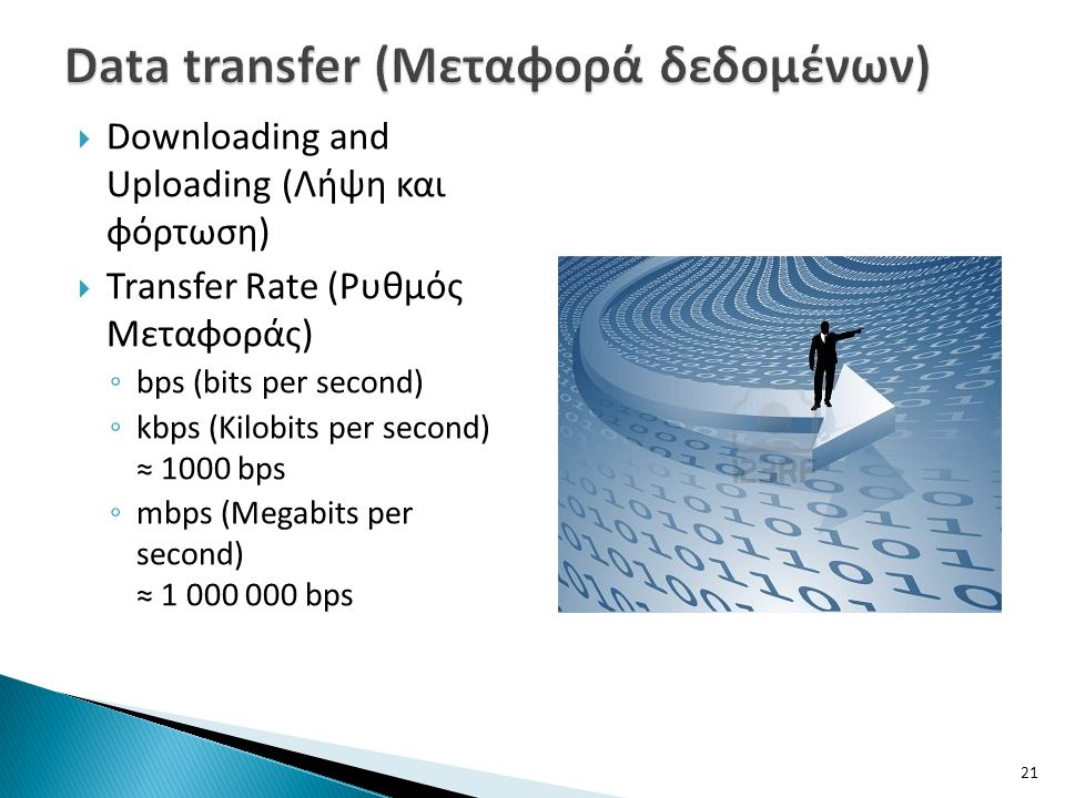 Data transfer (Μεταφορά δεδομένων)