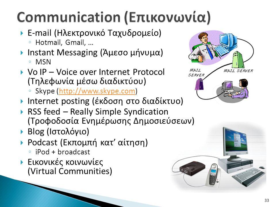 Communication (Επικονωνία)