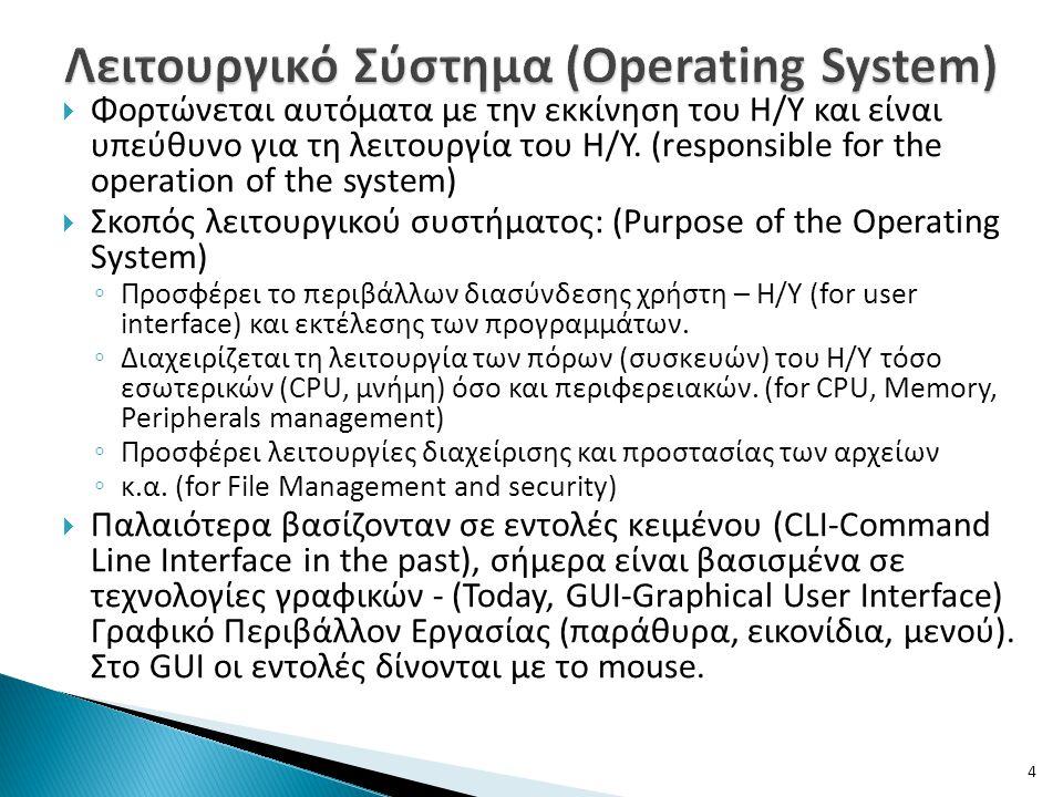 Λειτουργικό Σύστημα (Operating System)