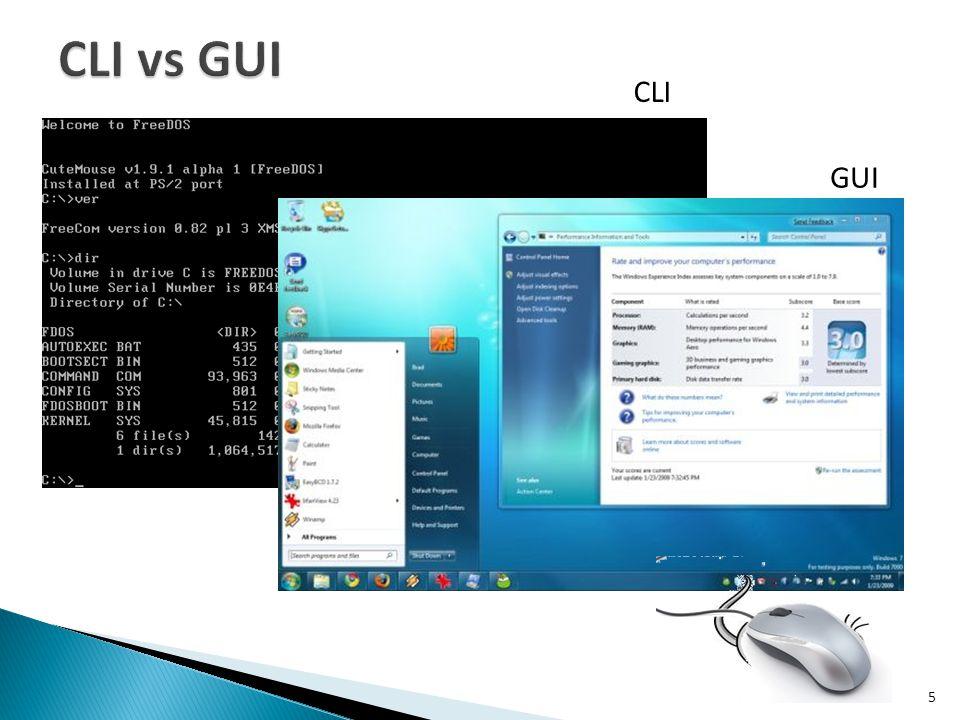 CLI vs GUI CLI GUI