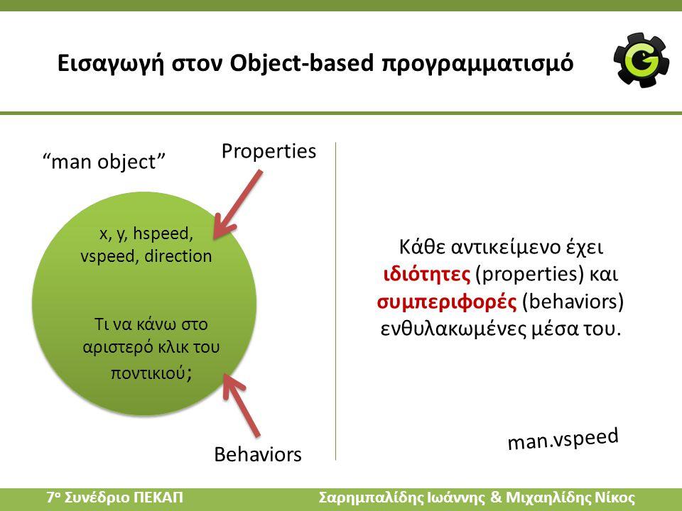 Εισαγωγή στον Object-based προγραμματισμό