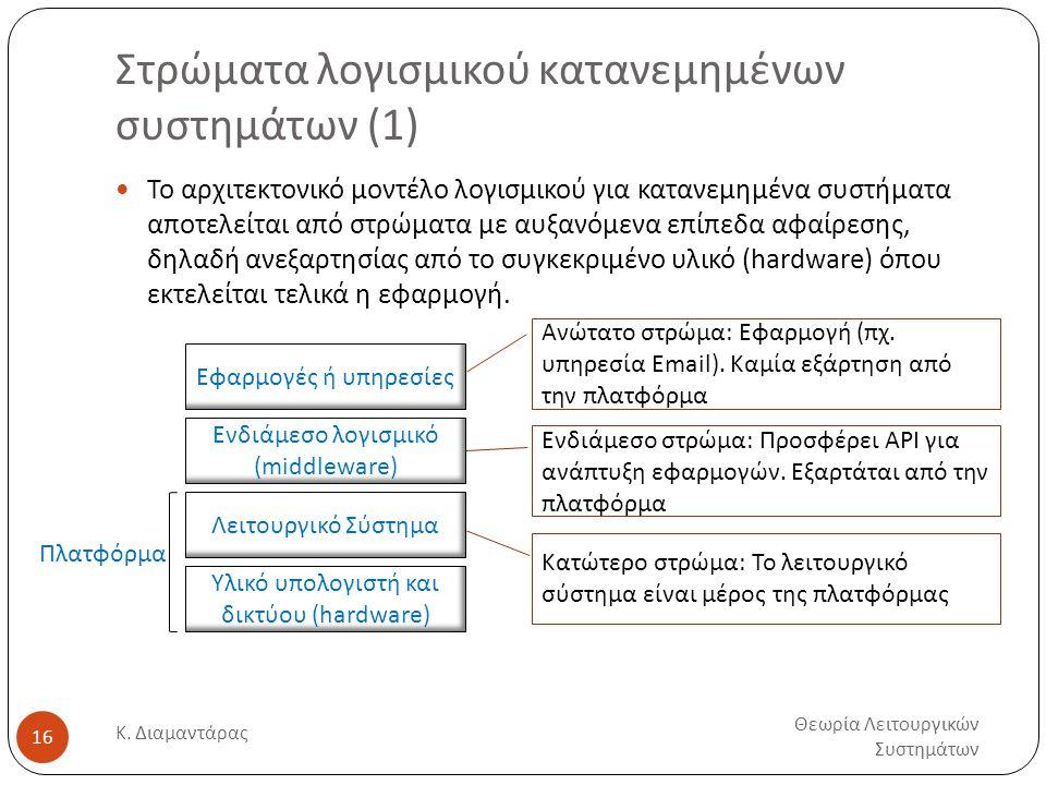 Στρώματα λογισμικού κατανεμημένων συστημάτων (1)
