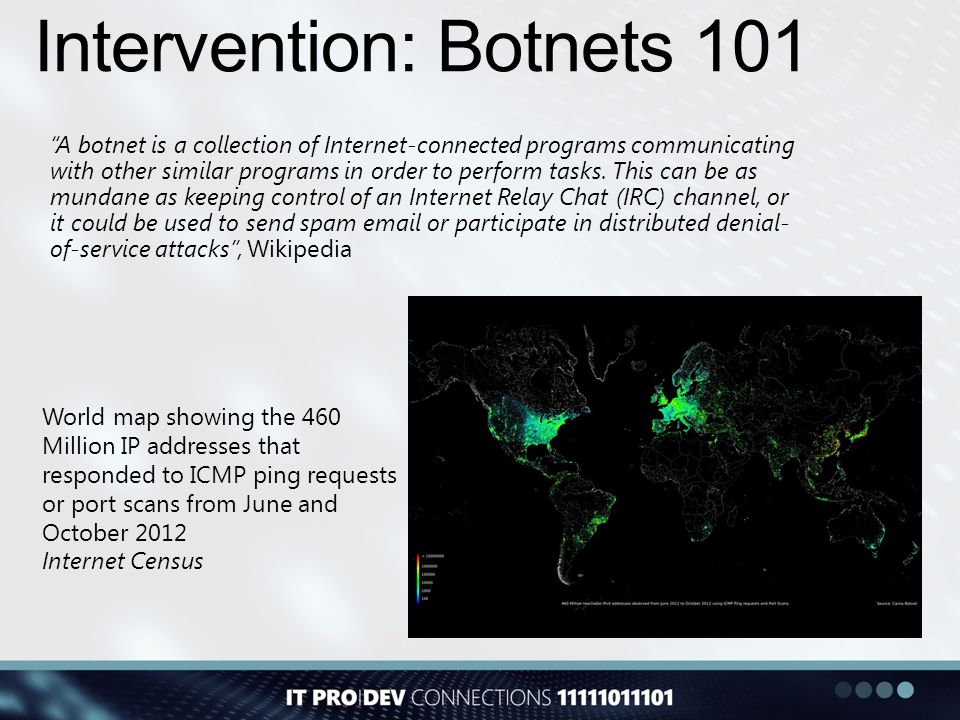 Intervention: Botnets 101