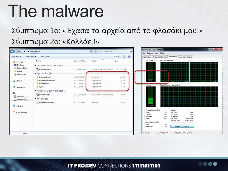 The malware Σύμπτωμα 1ο: «'Εχασα τα αρχεία από το φλασάκι μου!»