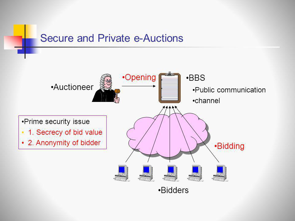 Secure and Private e-Auctions