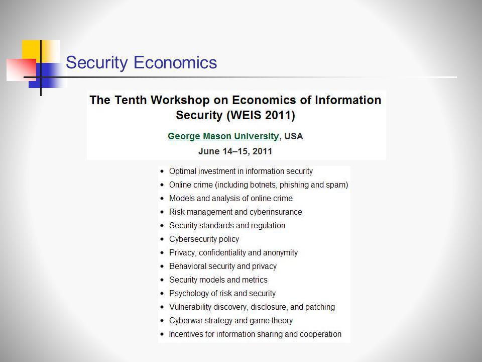 Security Economics