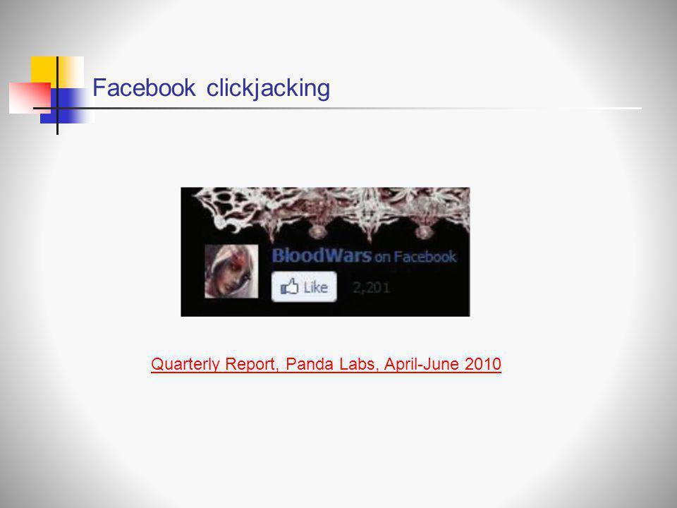 Facebook clickjacking