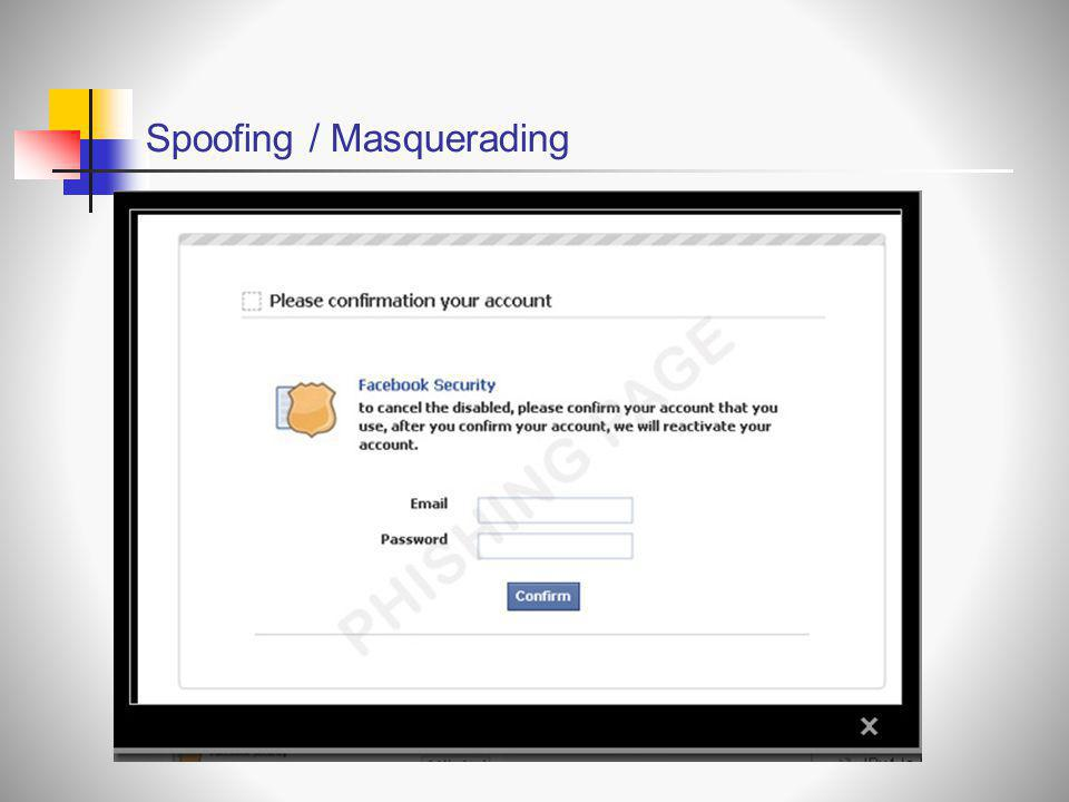 Spoofing / Masquerading