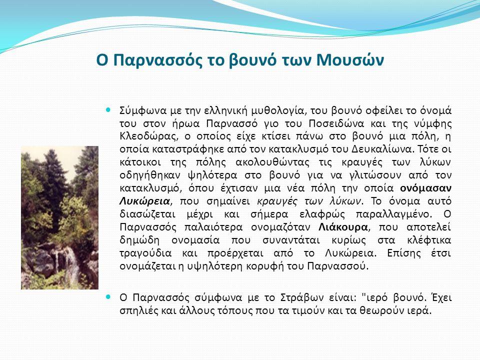 Ο Παρνασσός το βουνό των Μουσών