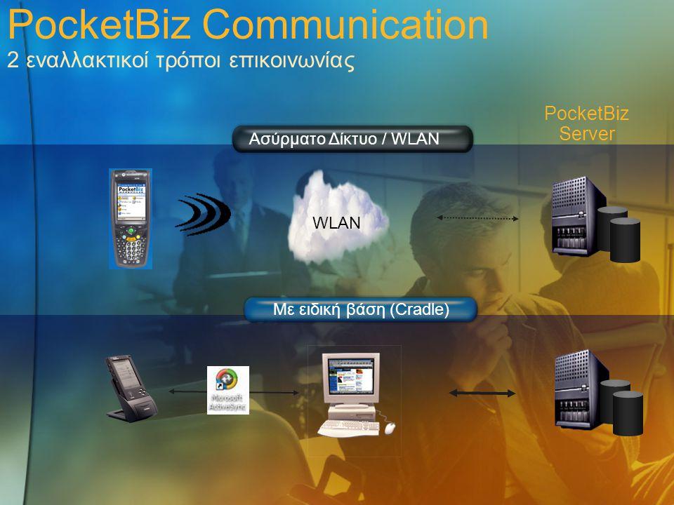 PocketBiz Communication 2 εναλλακτικοί τρόποι επικοινωνίας