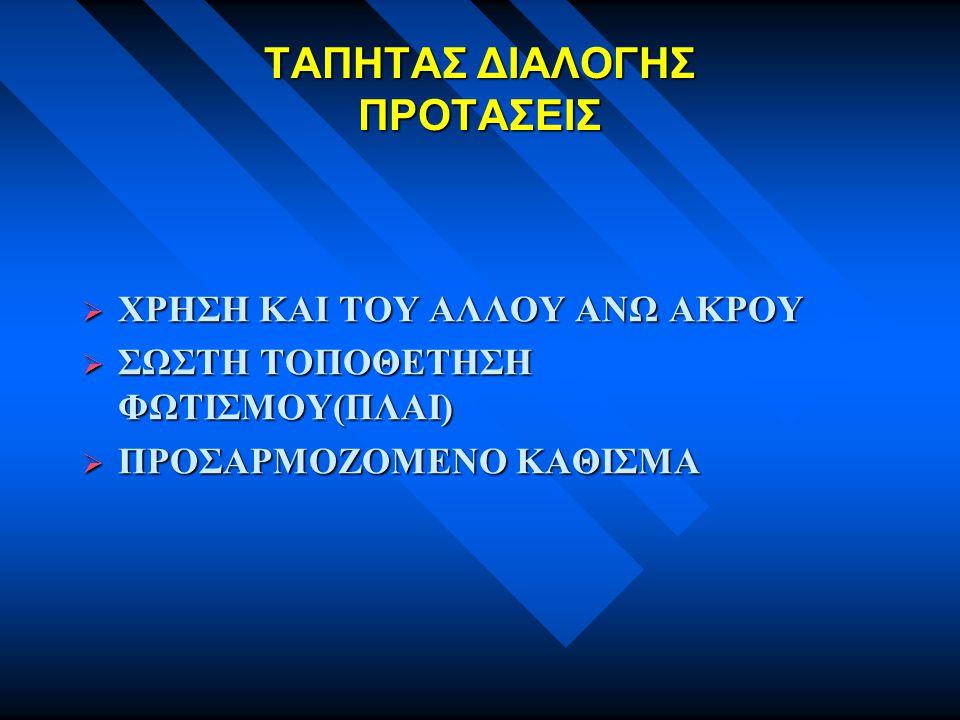 ΤΑΠΗΤΑΣ ΔΙΑΛΟΓΗΣ ΠΡΟΤΑΣΕΙΣ