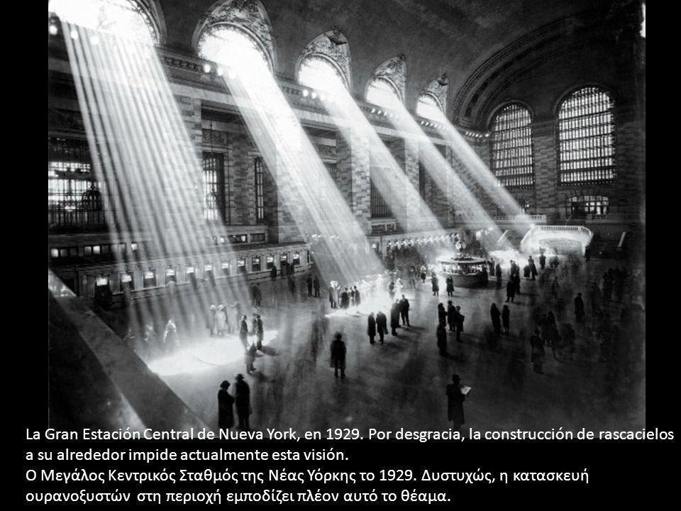 La Gran Estación Central de Nueva York, en 1929