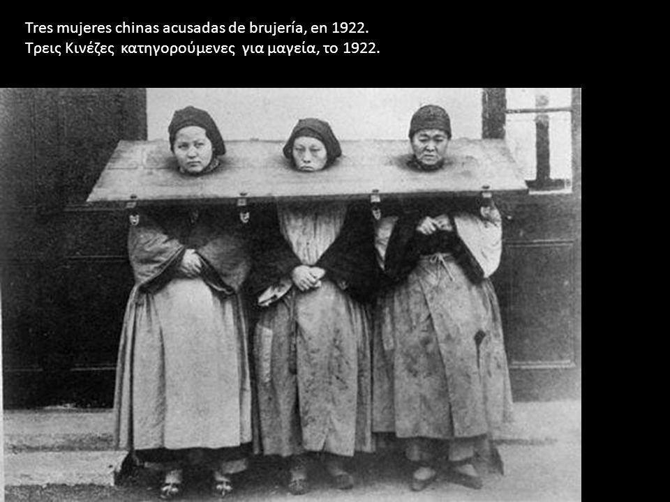 Tres mujeres chinas acusadas de brujería, en 1922.