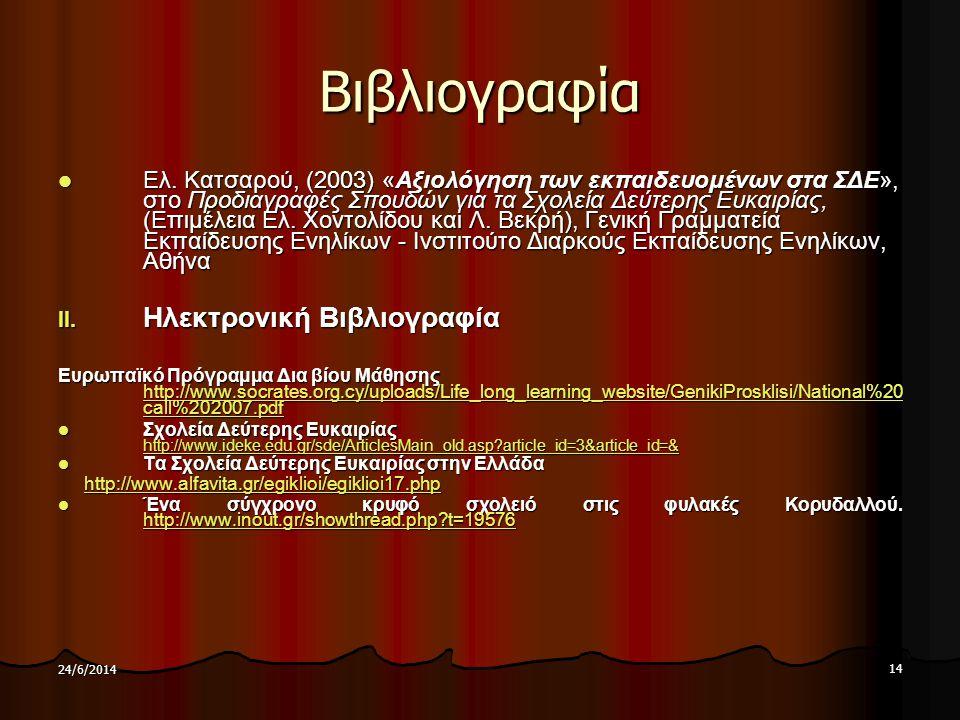 Βιβλιογραφία Ηλεκτρονική Βιβλιογραφία