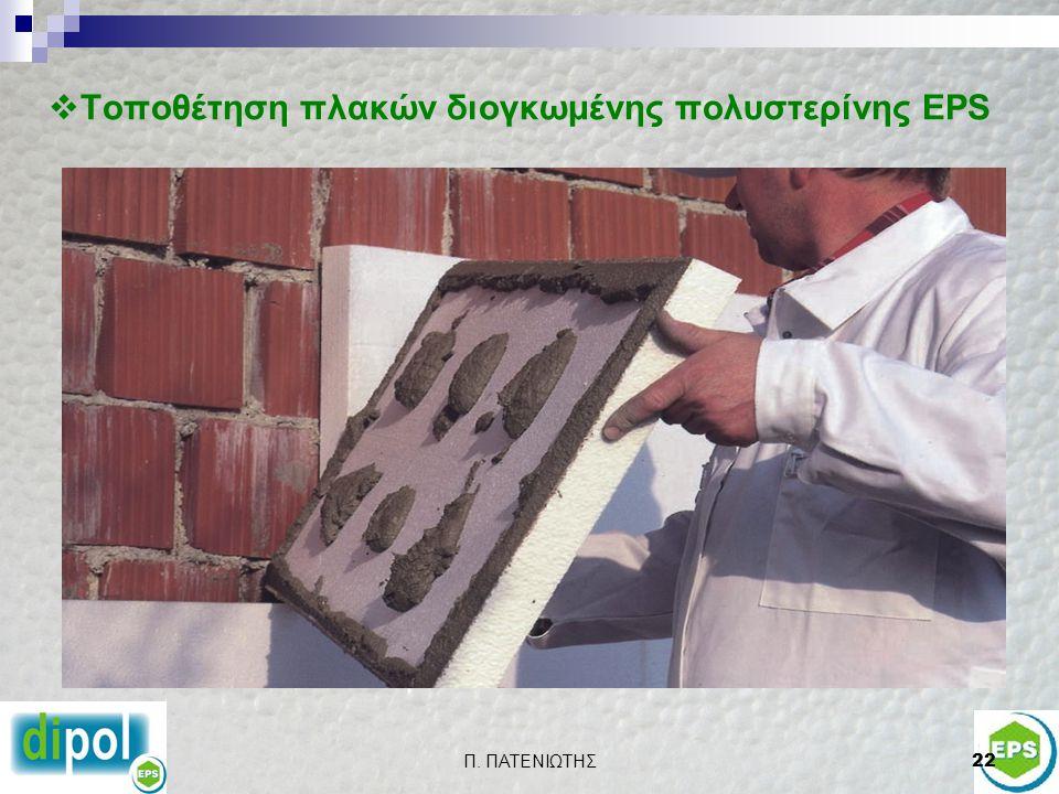 Τοποθέτηση πλακών διογκωμένης πολυστερίνης EPS