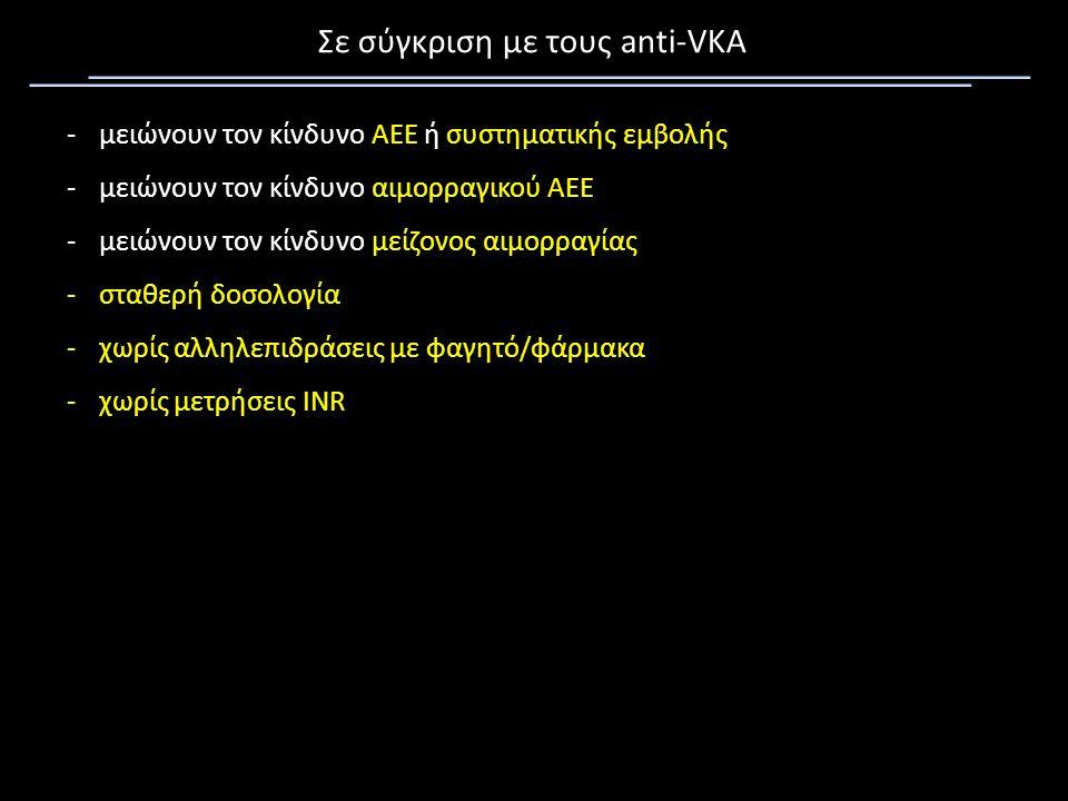 Σε σύγκριση με τους anti-VKA