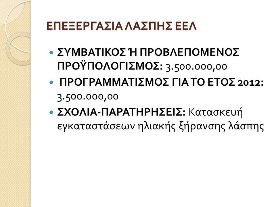 ΕΠΕΞΕΡΓΑΣΙΑ ΛΑΣΠΗΣ ΕΕΛ