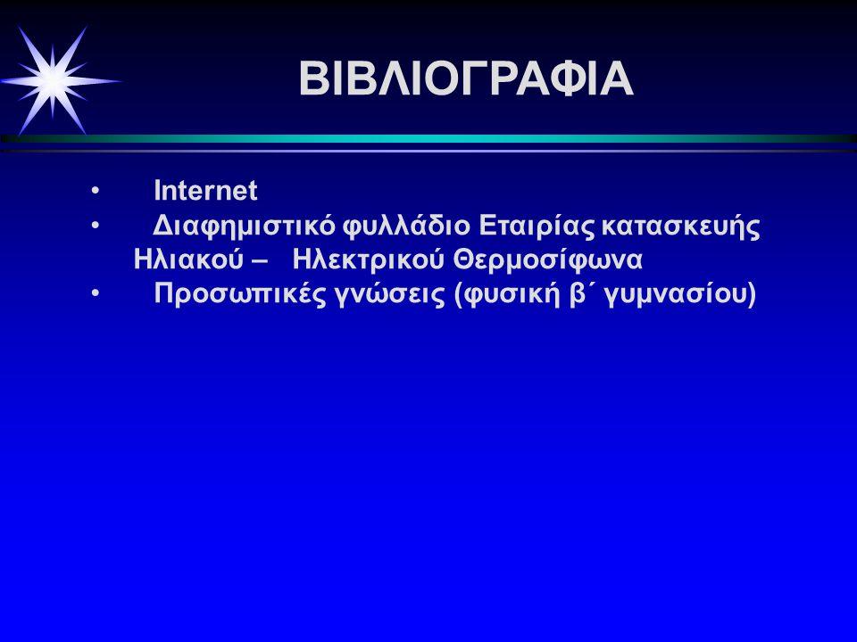 ΒΙΒΛΙΟΓΡΑΦΙΑ Internet