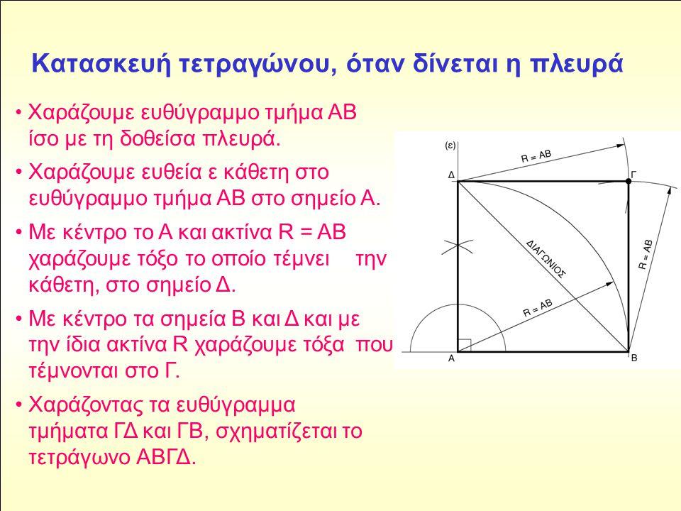 Kατασκευή τετραγώνου, όταν δίνεται η πλευρά