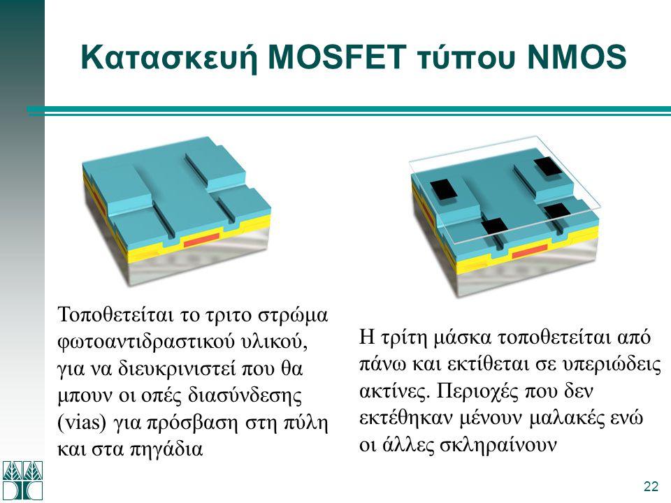 Κατασκευή MOSFET τύπου NMOS