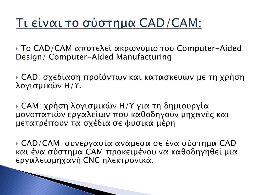 Τι είναι το σύστημα CAD/CAM;