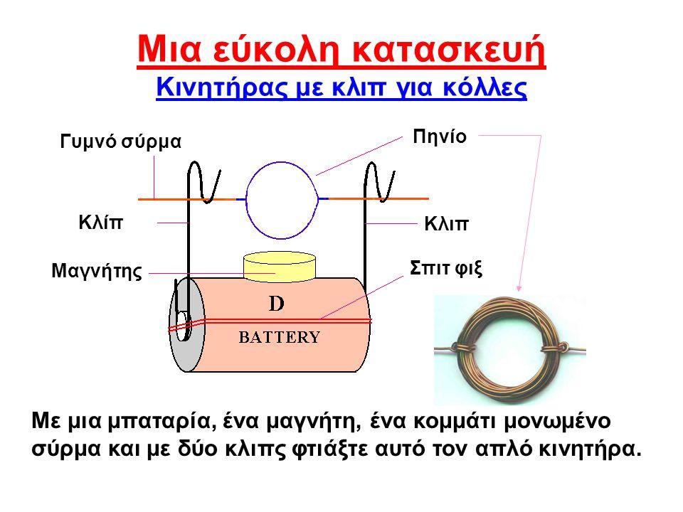Μια εύκολη κατασκευή Κινητήρας με κλιπ για κόλλες