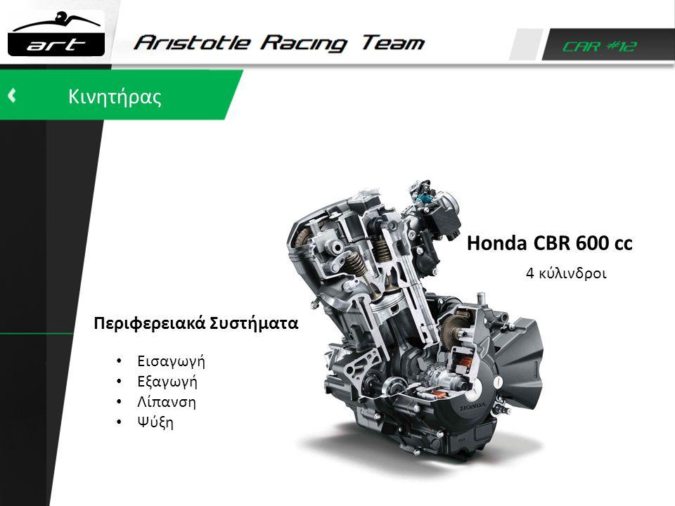 Κινητήρας Honda CBR 600 cc Περιφερειακά Συστήματα 4 κύλινδροι Εισαγωγή