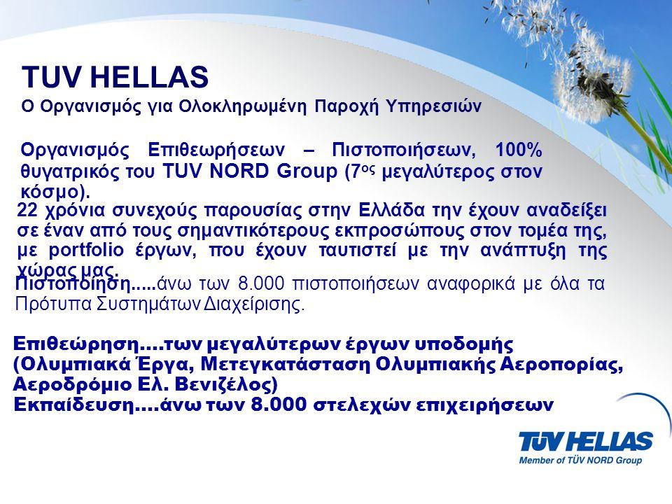 TUV HELLAS Ο Οργανισμός για Ολοκληρωμένη Παροχή Υπηρεσιών