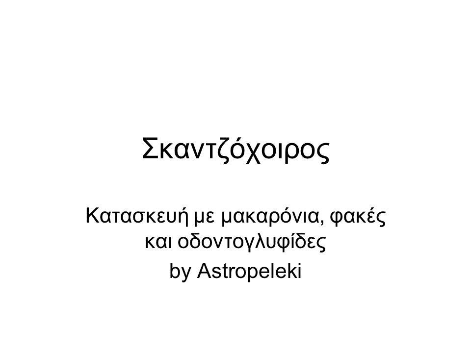 Κατασκευή με μακαρόνια, φακές και οδοντογλυφίδες by Astropeleki