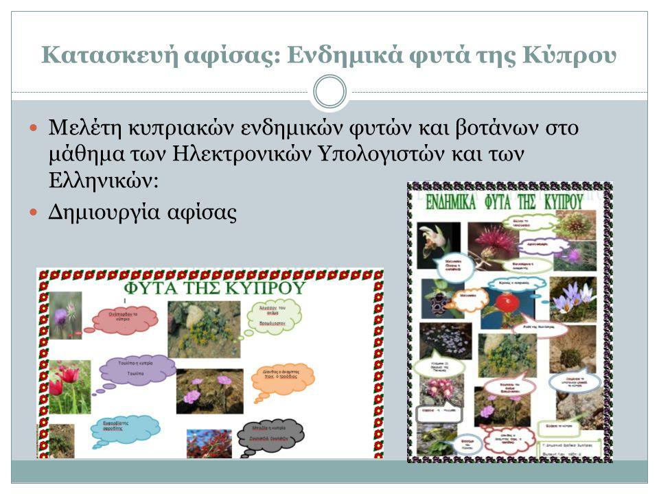 Κατασκευή αφίσας: Ενδημικά φυτά της Κύπρου