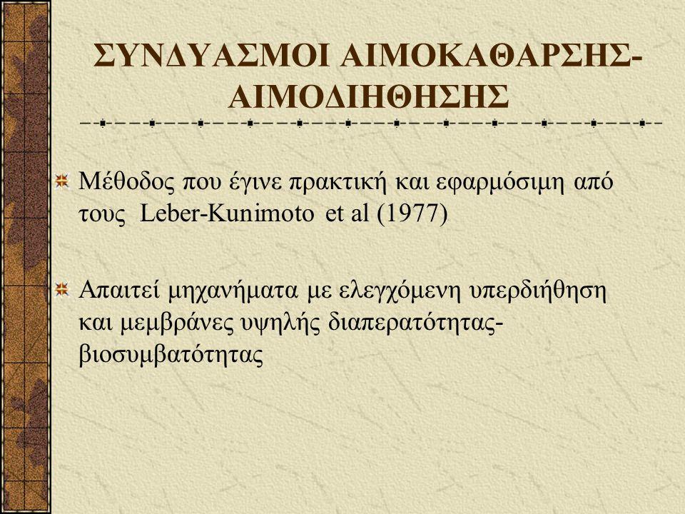 ΣΥΝΔΥΑΣΜΟΙ ΑΙΜΟΚΑΘΑΡΣΗΣ-ΑΙΜΟΔΙΗΘΗΣΗΣ