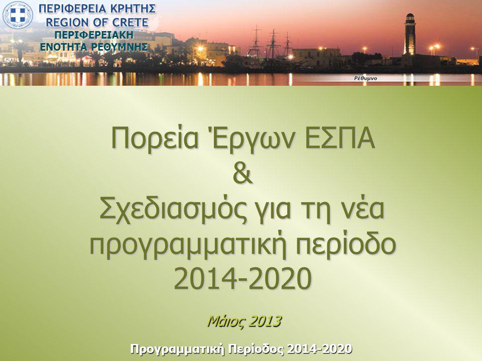 ΠΕΡΙΦΕΡΕΙΑΚΗ ΕΝΟΤΗΤΑ ΡΕΘΥΜΝΗΣ Προγραμματική Περίοδος 2014-2020