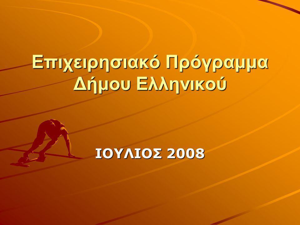 Επιχειρησιακό Πρόγραμμα Δήμου Ελληνικού