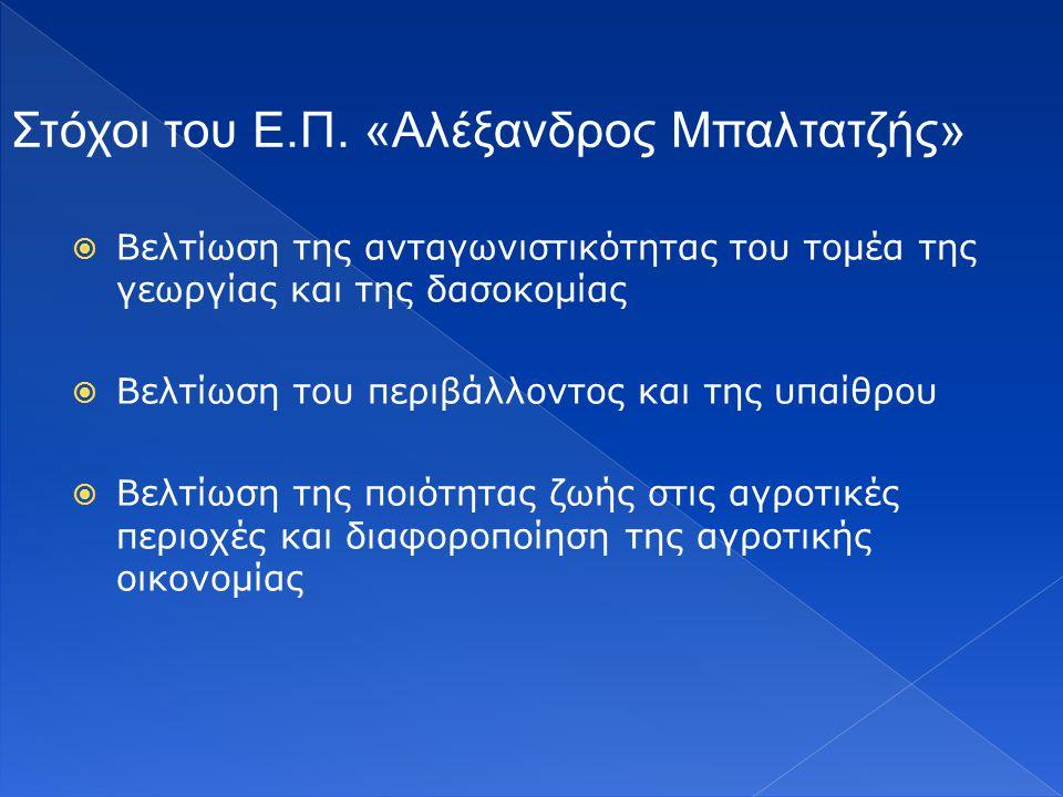 Στόχοι του Ε.Π. «Αλέξανδρος Μπαλτατζής»