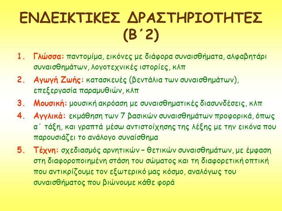 ΕΝΔΕΙΚΤΙΚΕΣ ΔΡΑΣΤΗΡΙΟΤΗΤΕΣ (Β΄2)