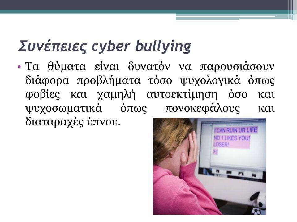 Συνέπειες cyber bullying