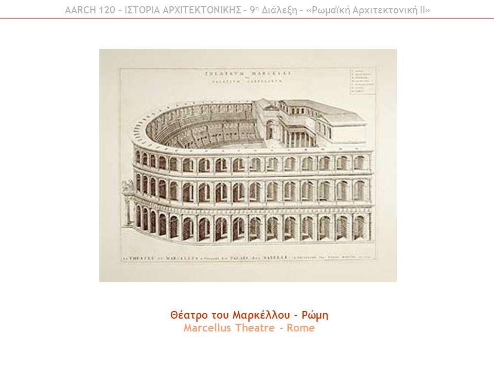 Θέατρo του Μαρκέλλου - Ρώμη Marcellus Theatre - Rome