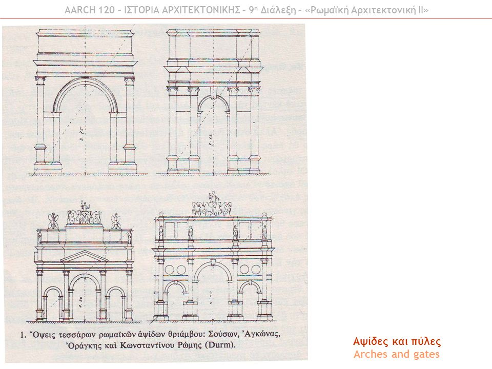 Aψίδες και πύλες Arches and gates
