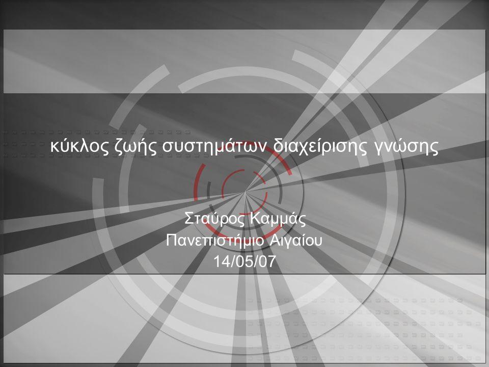 κύκλος ζωής συστημάτων διαχείρισης γνώσης