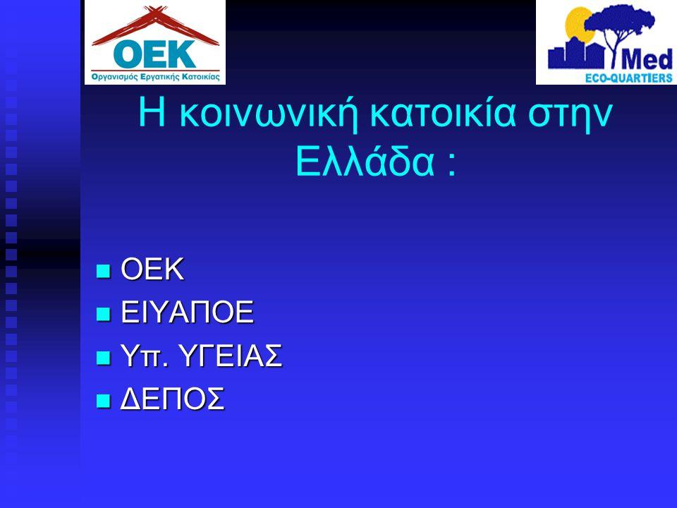 Η κοινωνική κατοικία στην Ελλάδα :