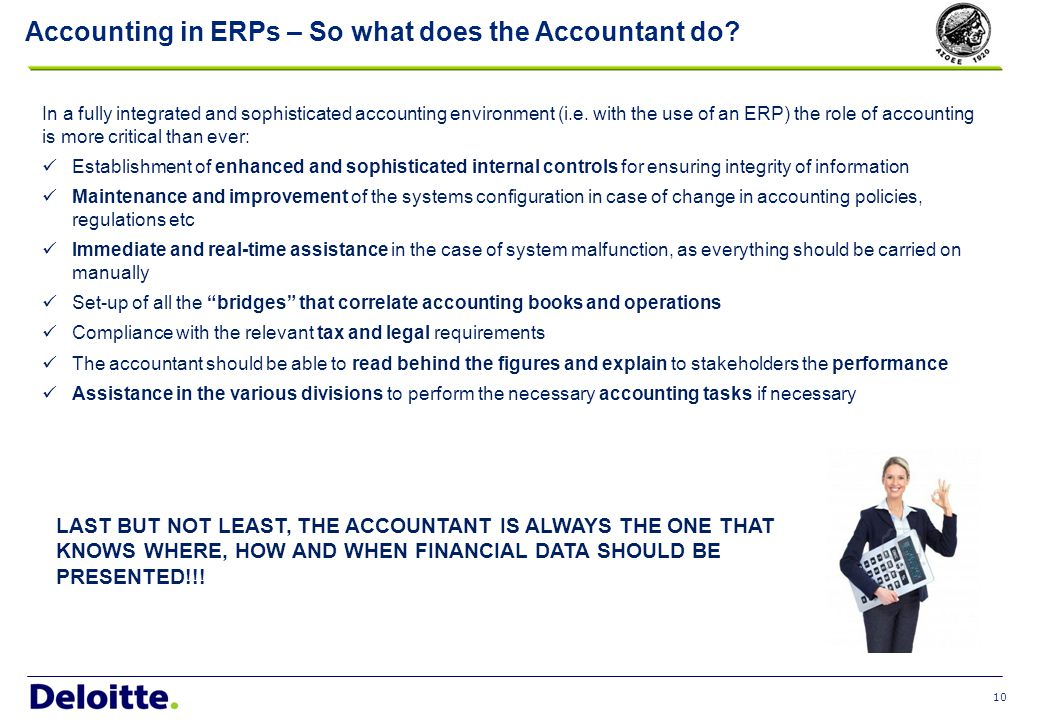 Accounting in ERPs – The Changing Role of the Accountant